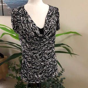 Worthington blouse with underlay shirt size Large